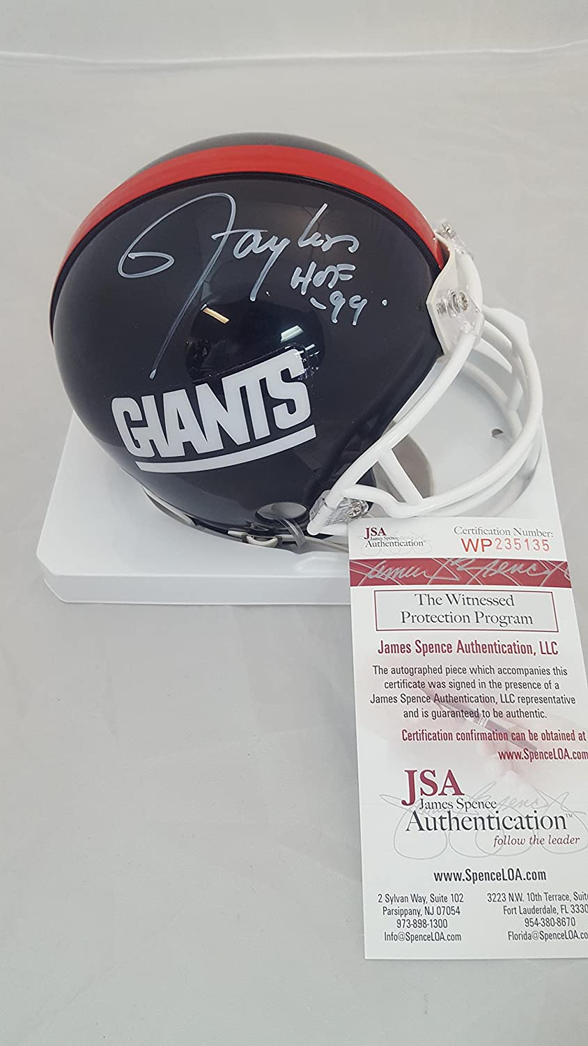 a38f51986 Amazon.com: Lawrence Taylor signed Giants Mini Helmet: Sports Collectibles