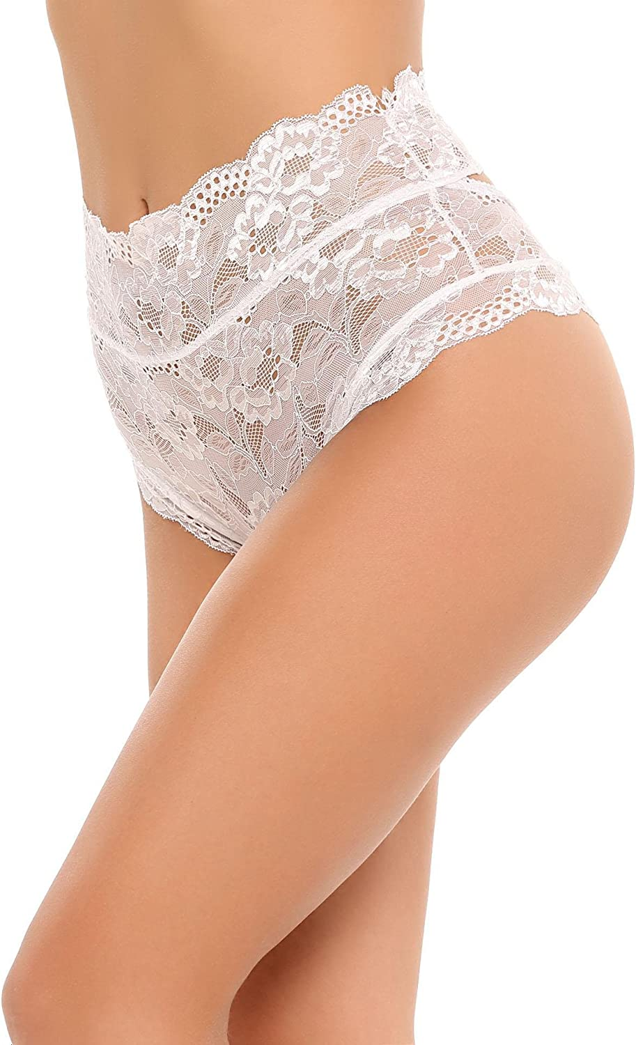 Bifast Womens Lace High Waist G-string Briefs Panties Hollow Out Thongs Lingerie Underwear Knickers