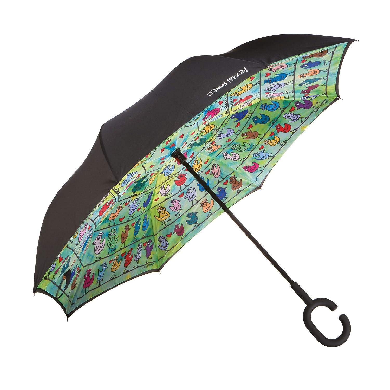 Goebel Birds On A Love - Regenschirm, Regen Schirm, Stockschirm, James Rizzi, Polyester, Bunt, 108 cm, 26102071 Goebel Porzellan GmbH