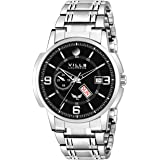 Vills Laurrens Metallic Black Day and Date Men's Watch VL-1190