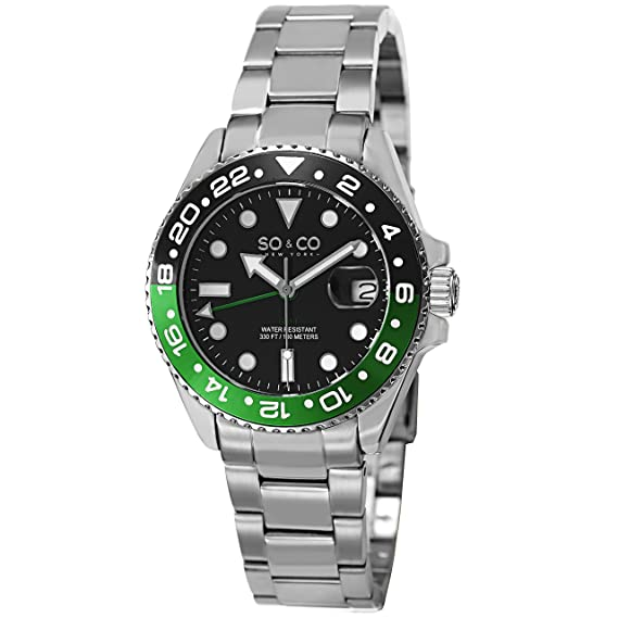 SO & CO New York 5021.1 - Reloj para Hombres, Correa de Acero Inoxidable Color