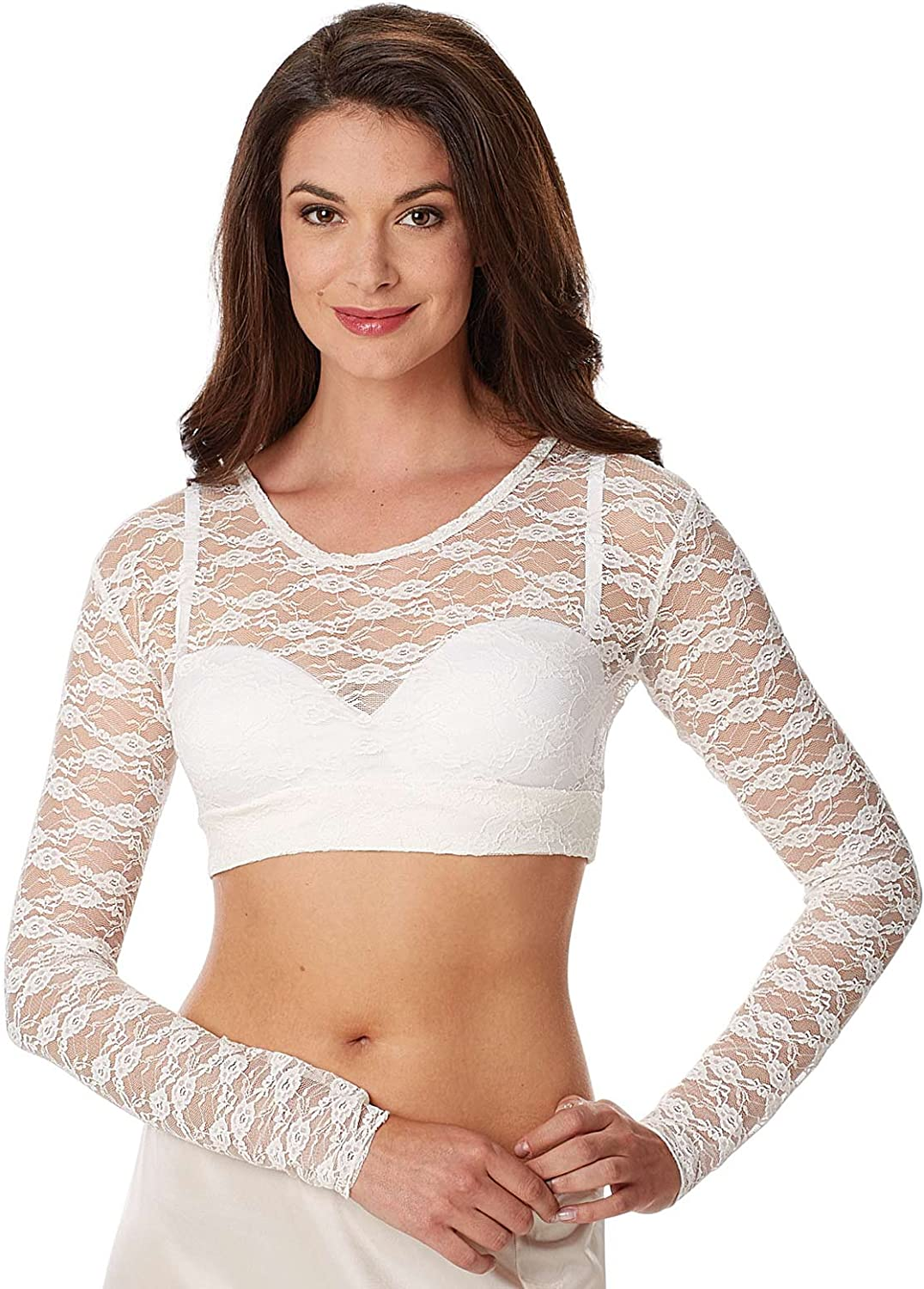 White Size Large Global TV Concepts Lace Camisole Top