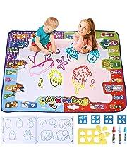 amzdeal Agua Dibujo Pintura Alfombra de Agua Doodle para niño , esteras de Agua Doodle con 1* Libro magico, 3* bolígrafos para Pintar