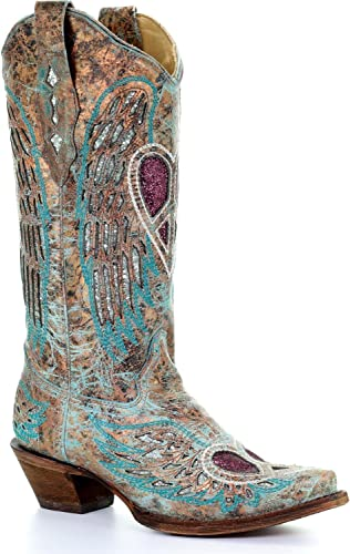 Corral Women's Turquoise Angel Wing
