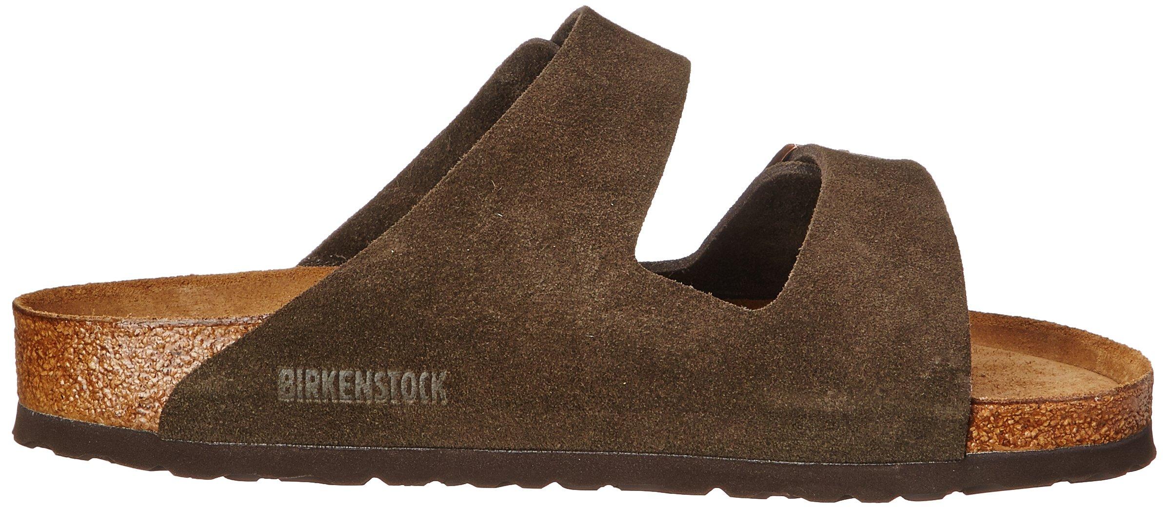 Birkenstock Unisex Arizona Mocha Suede Sandals - 35 N EU / 4-4.5 2A(N) US by Birkenstock (Image #7)