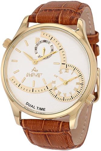 August Steiner Reloj Hombre de Pulsera con Banda de Piel, Color marrón: Amazon.es: Relojes