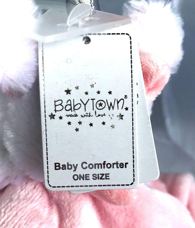 BabyTown Baby Girls ElephantSleep Comforter Snuggly Blanket Pink One Size