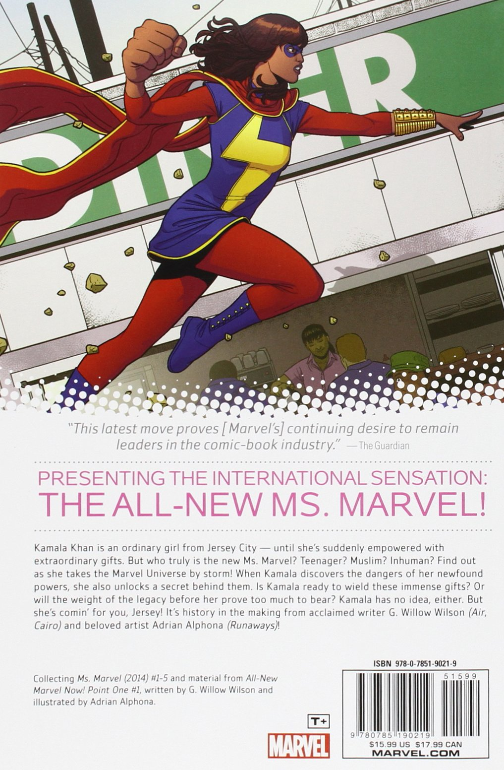 Amazon: Ms Marvel Volume 1: No Normal (ms Marvel Graphic Novels)  (8601421073080): G Willow Wilson, Adrian Alphona: Books