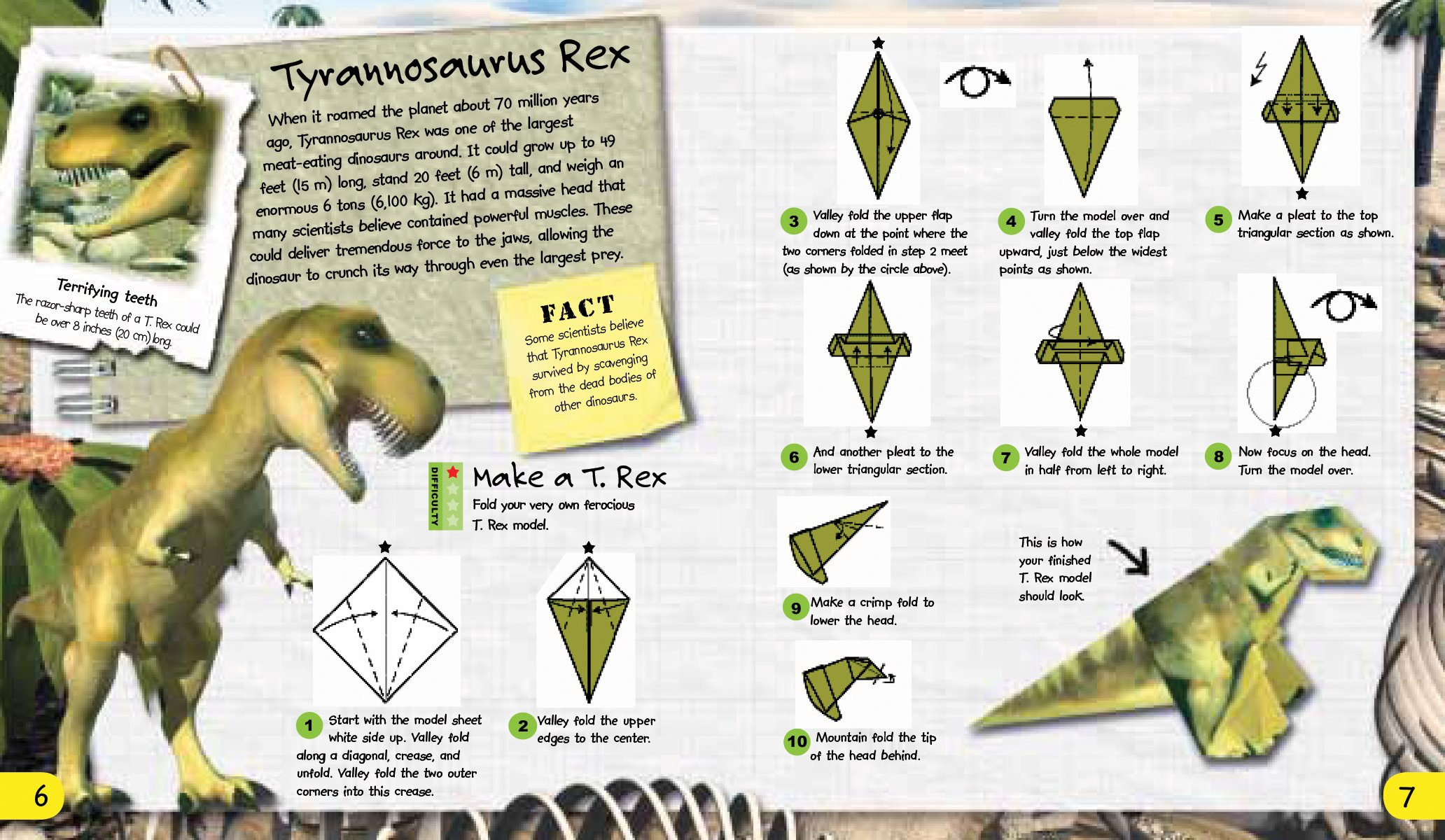 Origami Adventures Dinosaurs Nick Robinson Sebastian Quigley 9781607107620 Amazon Books