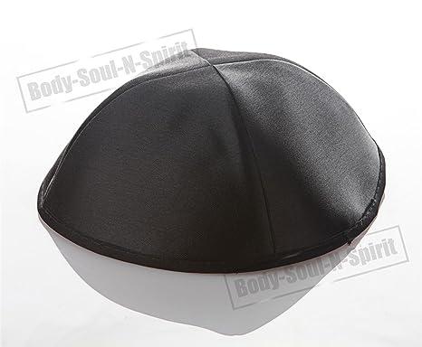 3 Kipot de satén NEGRAS sombrero judío cubrecabeza étnica yamaka Israel gorra