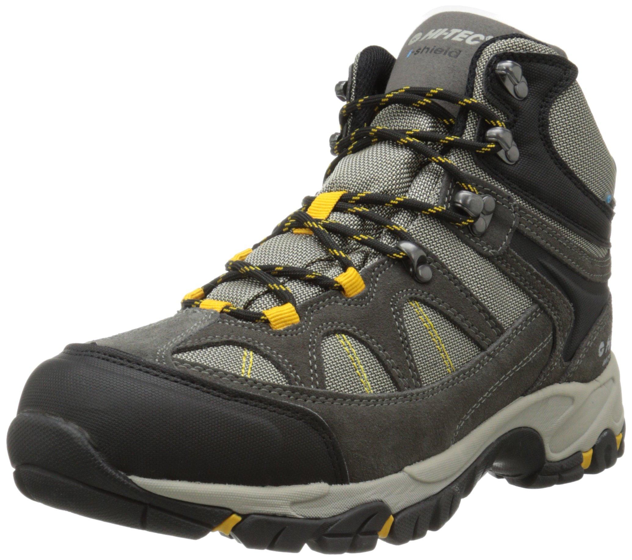 Hi-Tec Men's Altitude Lite I Waterproof Hiking Boot, Charcoal/Warm Grey/Gold,7.5 M US