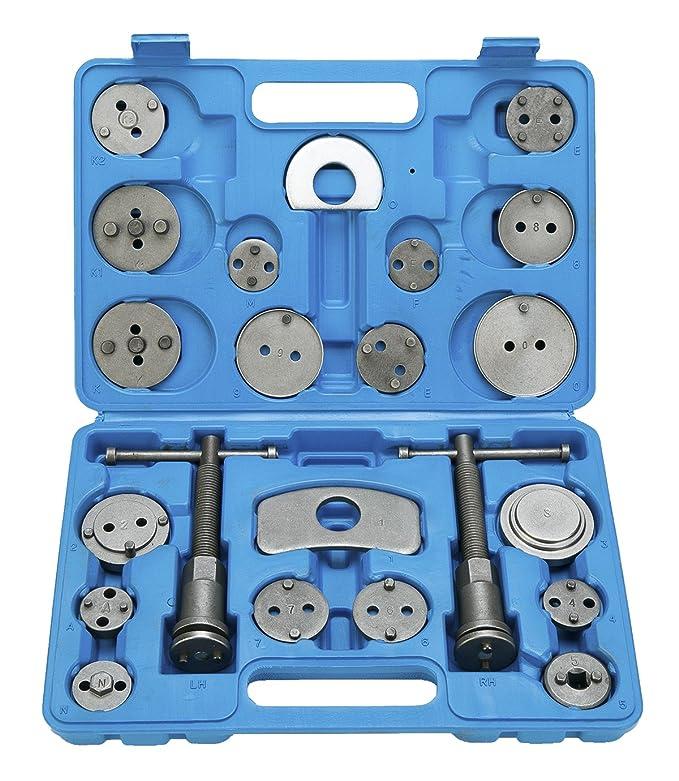 FreeTec 22 piezas Reposicionador de pistones de freno para reposicionar el pistón de freno al cambiar los discos: Amazon.es: Coche y moto