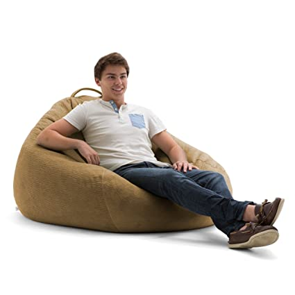 Enjoyable Big Joe Lux 132 Teardrop In Ripple Bean Bag Multicolor Camel Ibusinesslaw Wood Chair Design Ideas Ibusinesslaworg