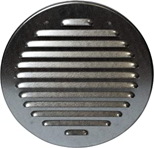 Vent Systems Soffit Vent Cover - Round Air Vent Louver - Grill Cover - Built-in Insect Screen - HVAC Vents for Bathroom, Home Office, Kitchen 6'' Inch Metal Galvanized