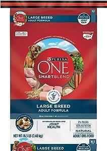 Purina ONE Natural Large Breed Adult Dry Dog Food, SmartBlend Formula - 16.5 lb. Bag