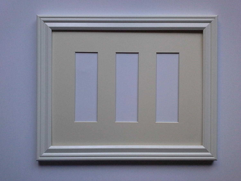 Amazon.de: Weiß Photo Booth Rahmen mit elfenbeinfarben Matte für 3 ...