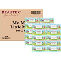 Beautex Box Tissue, Mr Men Little Miss, 3 PLY, 100 count (Pack of 16)