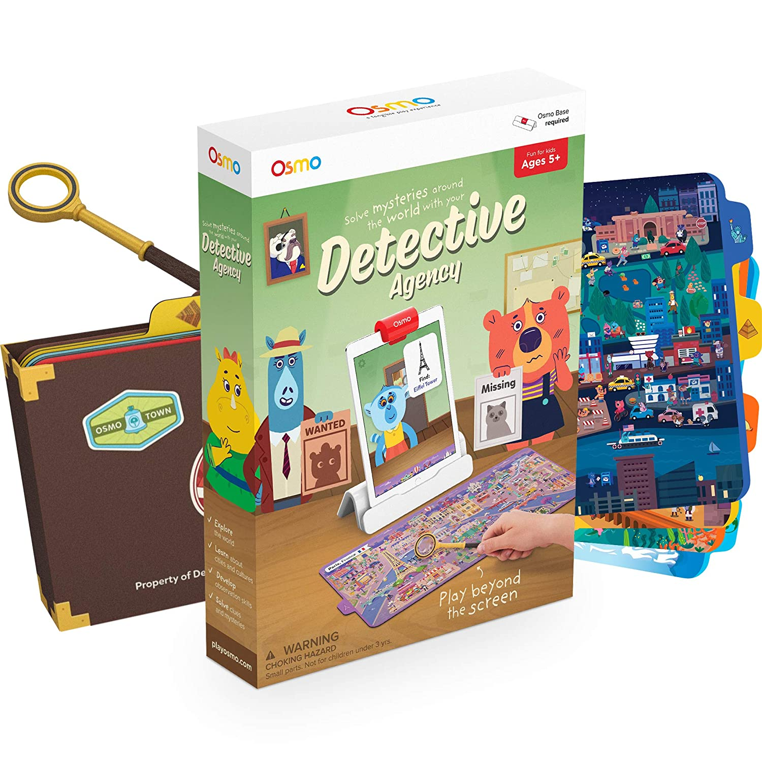 Osmo 902-00011 Detective Agency: A Search & Find Mystery Game That Explores The World! (Base Required), Multicolor
