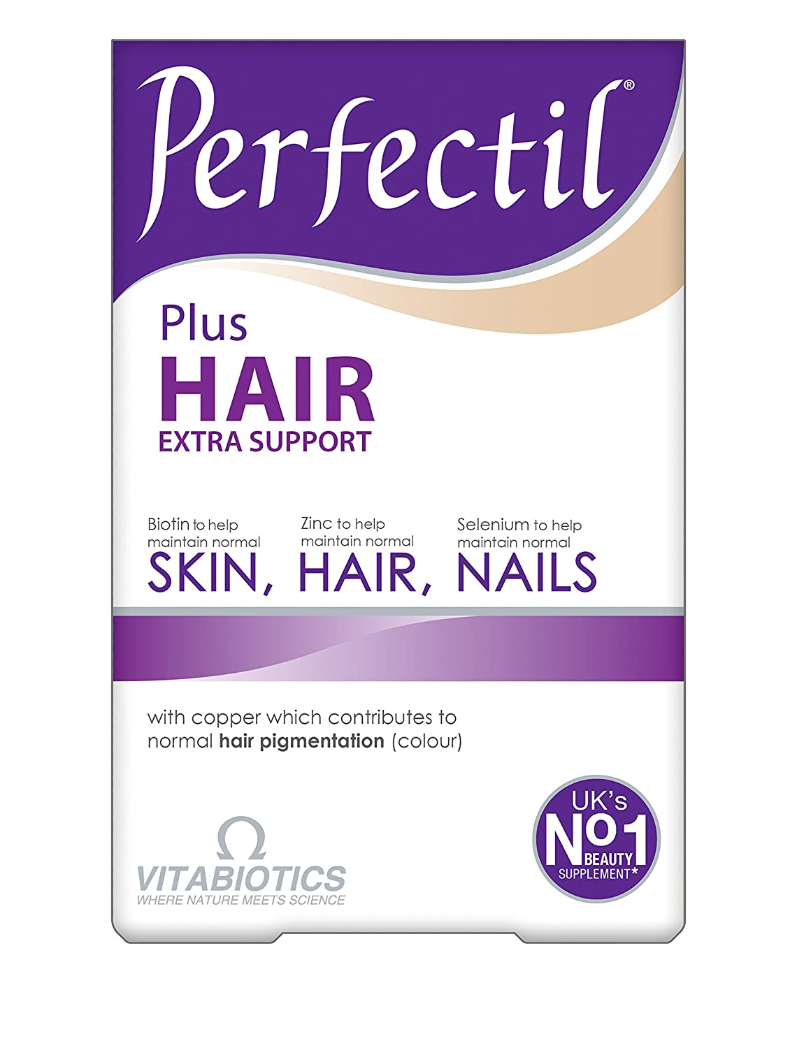 Perfectil Plus Hair Tablets - Pack of 60 by VITABIOTICS LTD: Amazon.es: Salud y cuidado personal