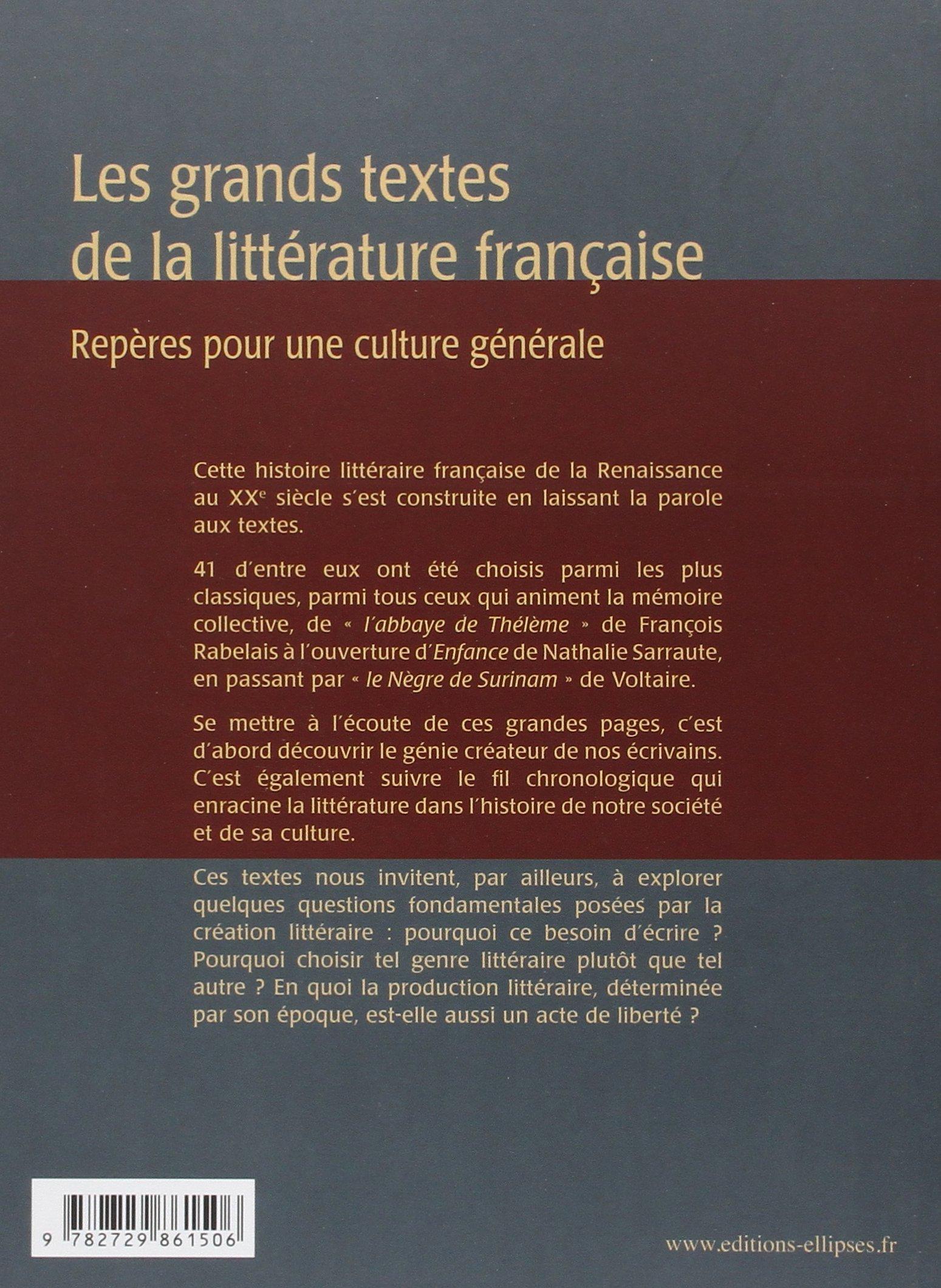 Amazon.fr - Les grands textes de la littérature française - Francis Collet  - Livres