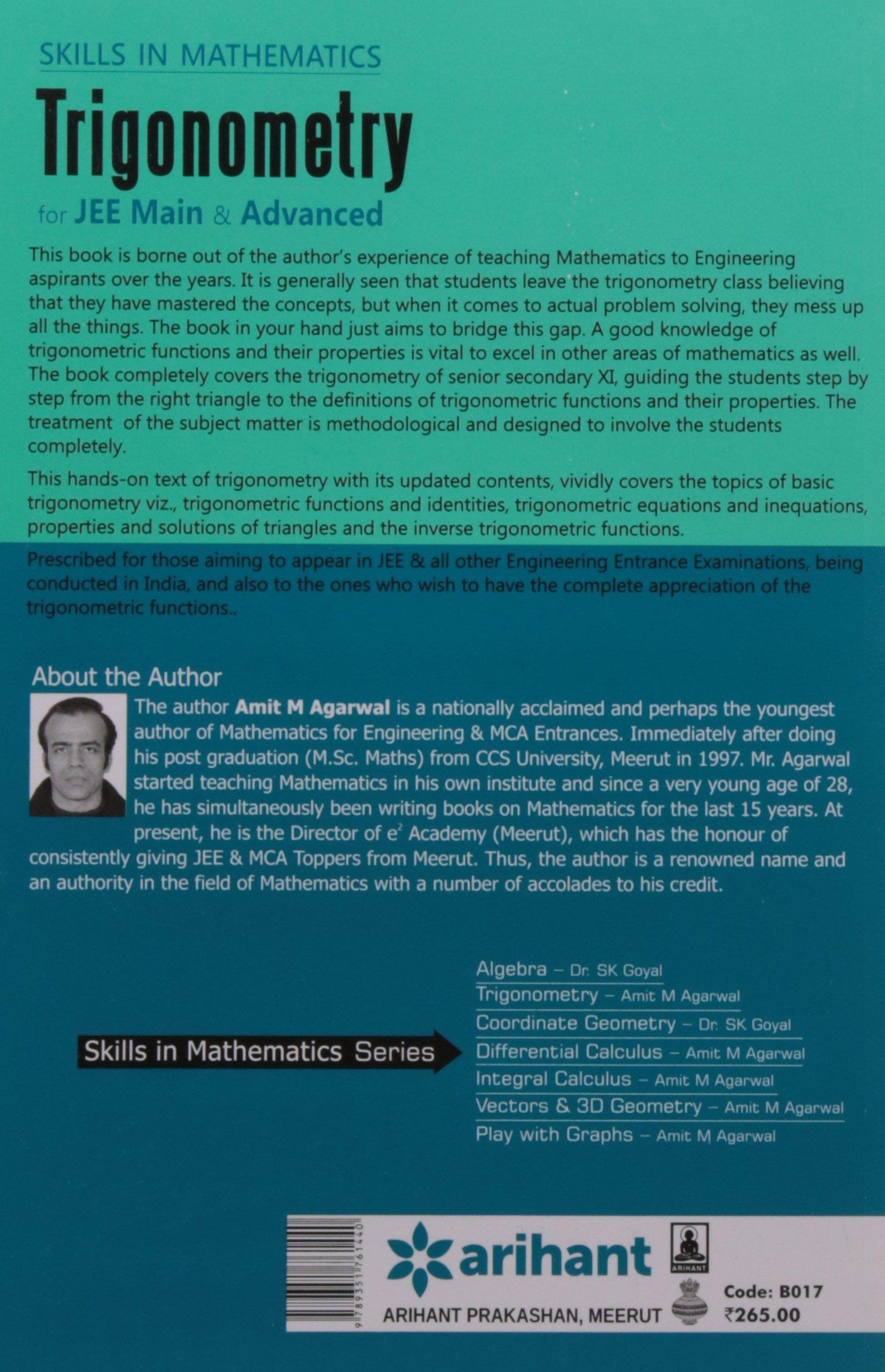 Buy Skills In Mathematics - TRIGONOMETRY for JEE Main & Advanced ...
