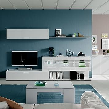 Habitdesign 036676BO-Mueble de Comedor, Mueble Salon con Leds ...