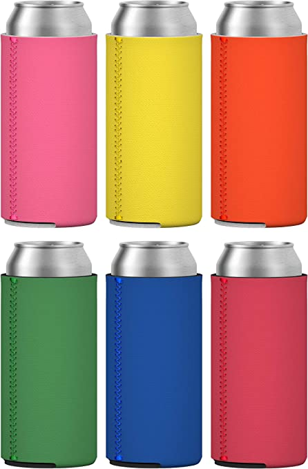 12 Neoprene slim can sleeves 12oz Blank Beer Skinny Can Cooler Perfect Sublimation Slim Can Cooler Red Set of 12 Blank Slim Can Coolers