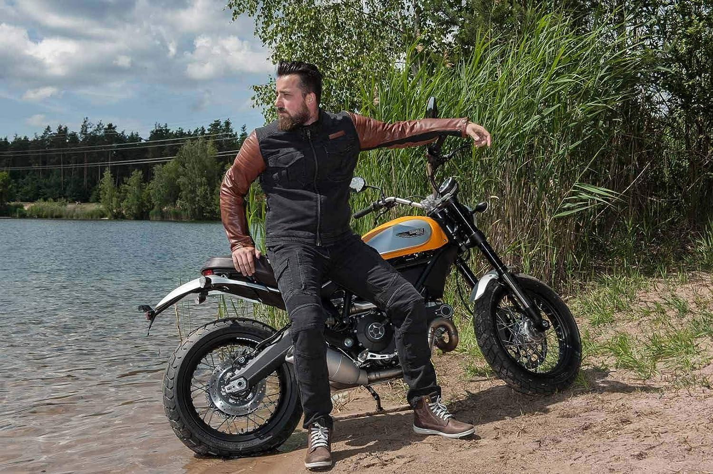 Gr/ö/ße 38 Trilobite Acid Scrambler Herren Motorrad Jeans Khaki Protektoren Hose Rei/ßfest Abtriebfest 38166408