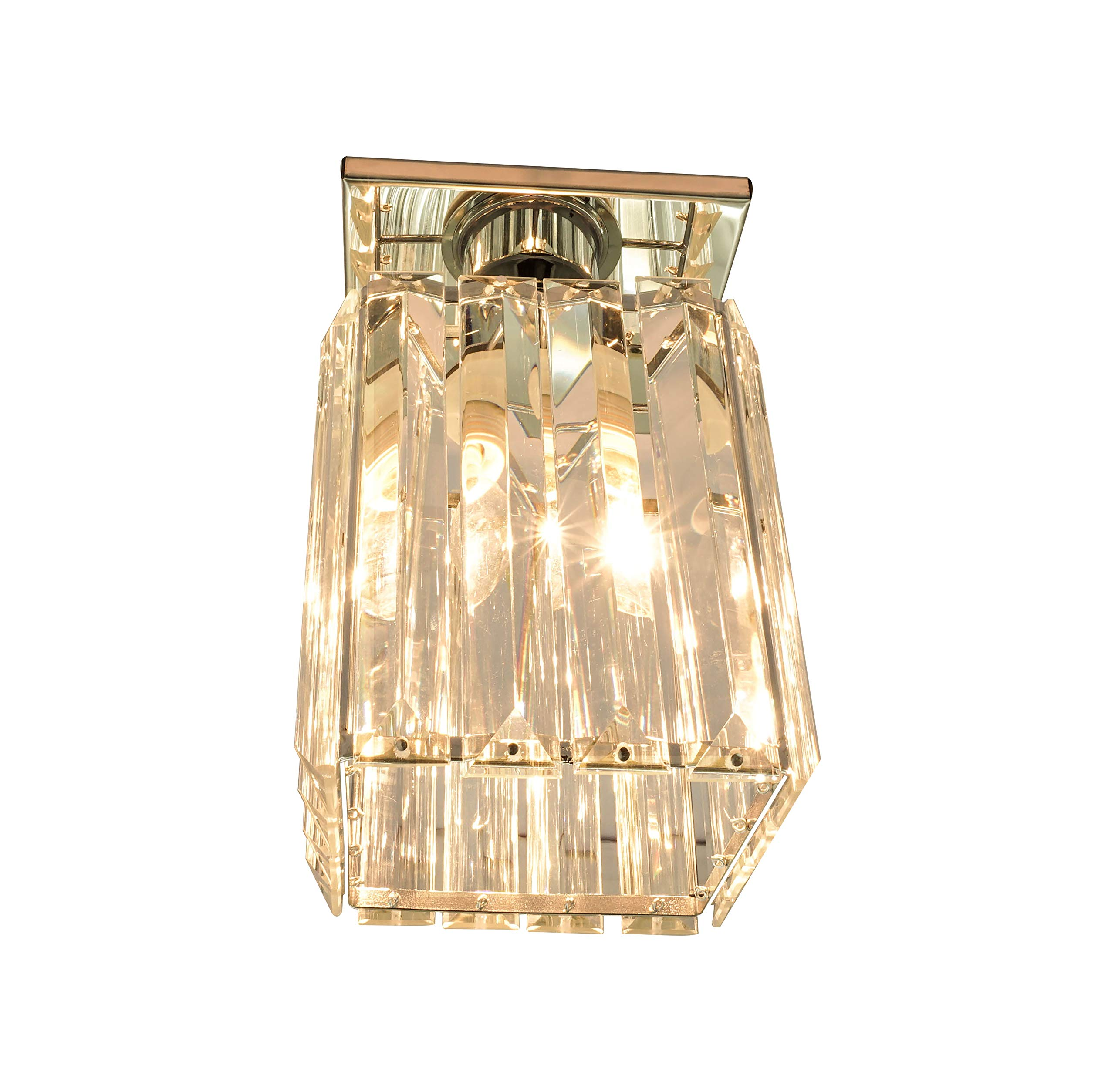 Agnes Lighting Crystal Ceiling Lamp, Chandelier, 1 Light, W5.12''L5.12 H8.27'' by Agnes Lighting (Image #1)