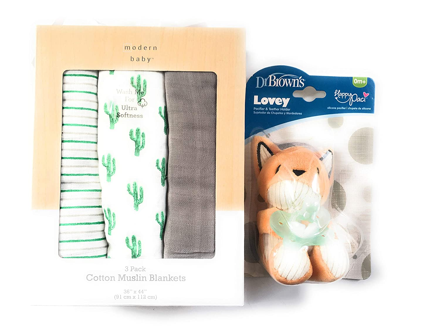 Amazon.com: DR. BROWNS Lovey PACIFIER & TEETHER HOLDER ...