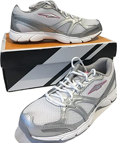 Grey/Dark Pink Trainer Walking Shoe UK