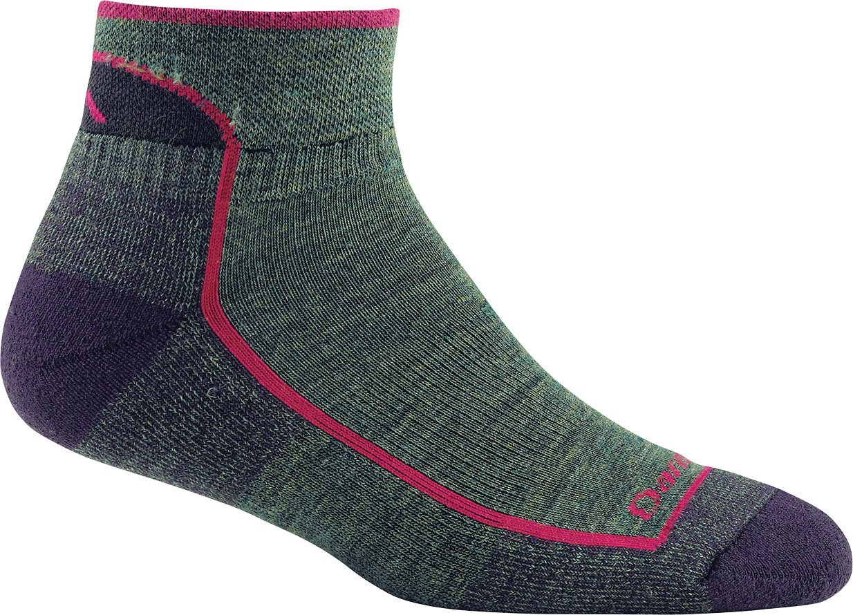 Darn Tough Women's Wool 1/4 Sock Cushion - 6 Pack, Moss Heather, Small