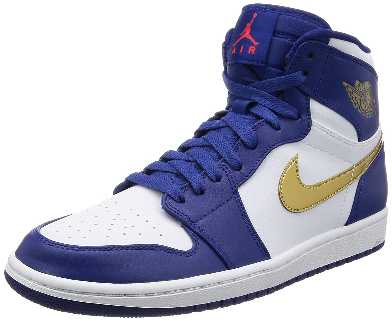 6d68bf9f696 well-wreapped Nike Mens Air Jordan 1 Retro High Olympic Basketball Shoes  Deep Royal Blue