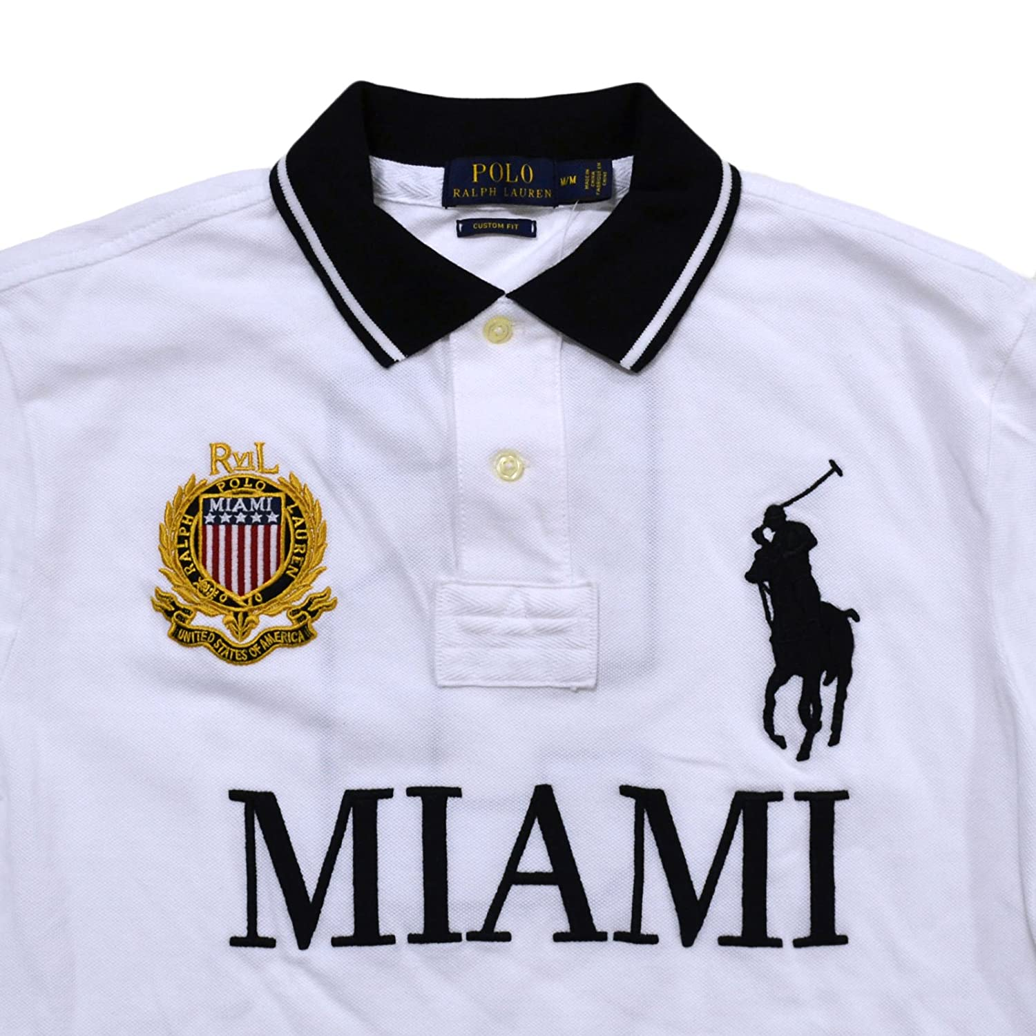 34d6fb2ed0c90 Polo Ralph Lauren Mens Big Pony City Custom Fit Mesh Polo Shirt at Amazon  Men s Clothing