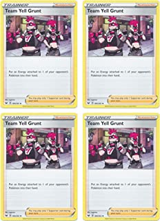 product image for Pokemon Card - Team Yell Grunt - Sword and Shield Base - x4 Card Lot Playset - 184/202 Uncommon