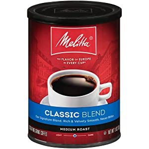 Melitta Classic Blend Coffee, Medium Roast, Extra Fine Grind, 11 Ounce Can