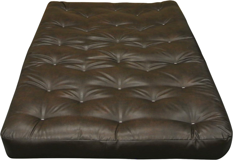 Duct Gold Bond 0707A0-0150 8 All Cotton Futon Mattress Queen Black