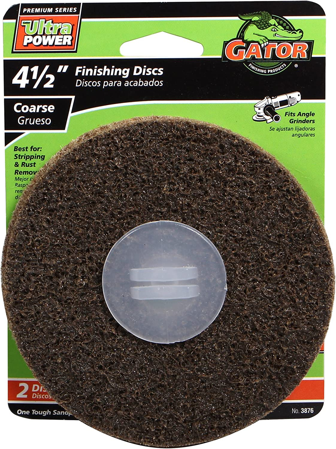 Gator Finishing 3876 Coarse Surface Conditioning Disc (2 Pack), 4.5""