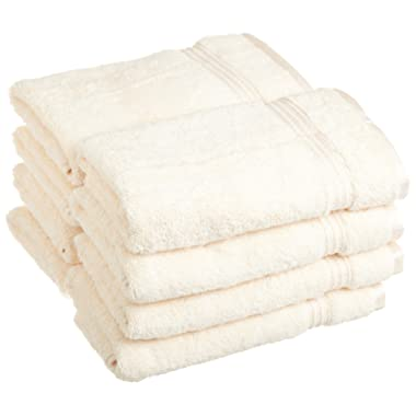 Superior Luxurious Soft Hotel & Spa Quality Hand Towel Set of 8, Made of 100% Premium Long-Staple Combed Cotton - Ivory, 16  x 30  each