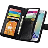 S5 Case, Galaxy S5 Case, Joopapa Galaxy S5 Luxury Fashion Pu Leather Magnet Wallet Credit Card Holder Flip Case Cover with Built-in 9 Card Slots for Samsung Galaxy S5 / Galaxy Sv / Galaxy S5 I9600 (Black)
