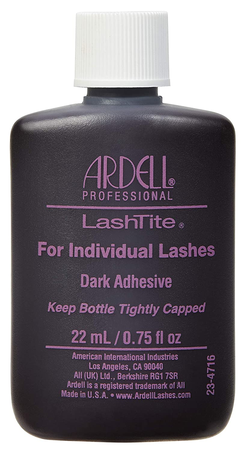 6766b7d8b9f Amazon.com : Ardell Lashtite Adhesive, Dark, 0.75 fl.oz. Bottle (2-Pack) :  Beauty