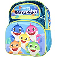 """Baby Shark Backpack 16"""" 3D Molded Character Design With Magic Sequins Backpack Bag"""