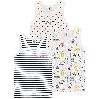 Petit Bateau Camiseta sin Mangas (Pack de 3) para Niños