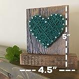 Sweet & small freestanding wooden green heart