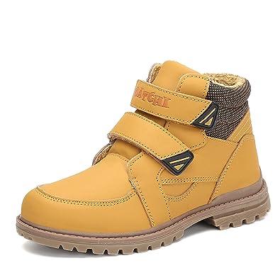 994b6784500f1 Putu Bottines Bottes d hiver Confortables Doublure Chaude Velcro Chaussures  Casual Baskets Garçons Filles Enfants