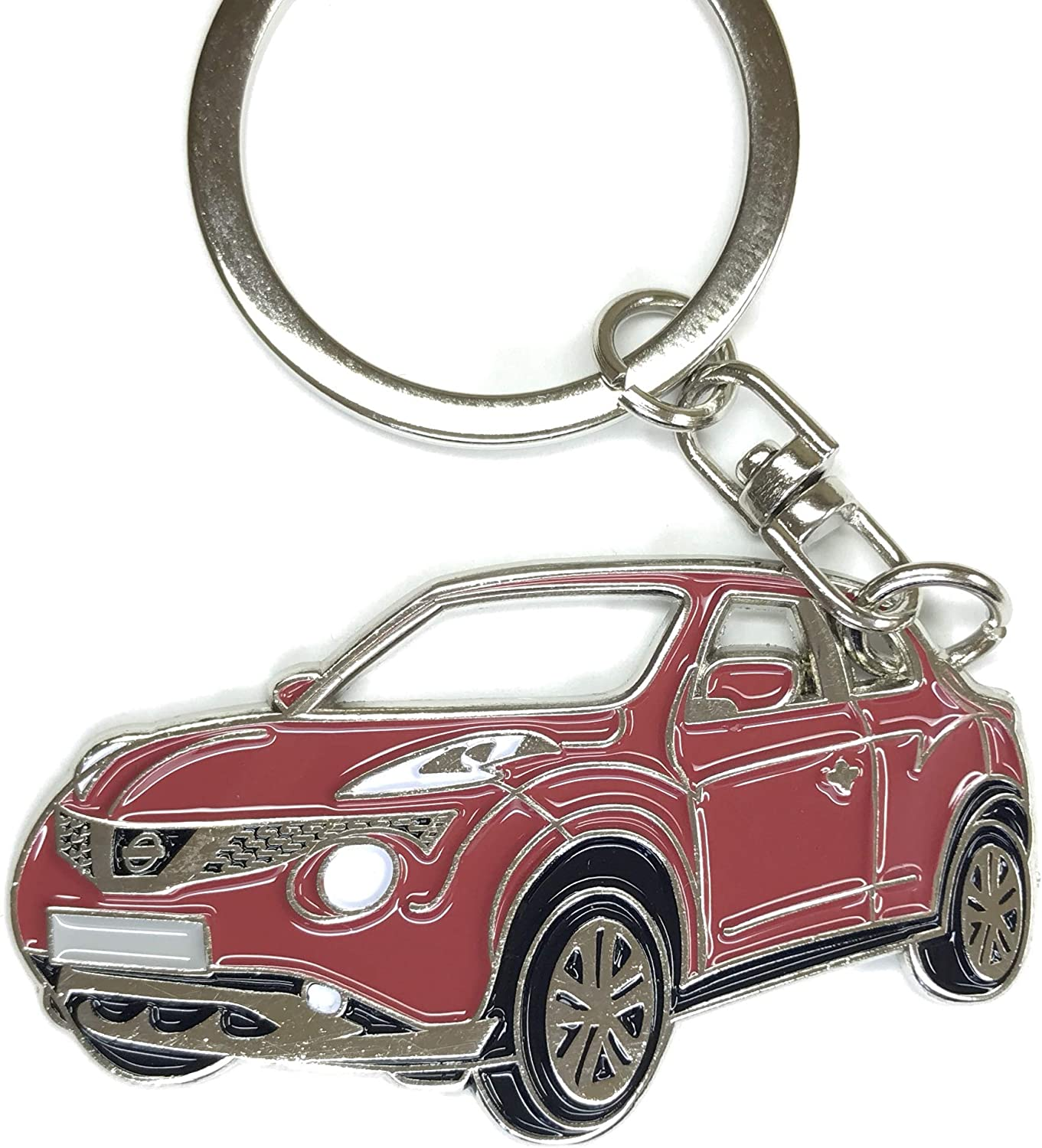 red Chrome Metal tag Enamel 3dcrafter Juke Key Chain for car Accessories Replica.
