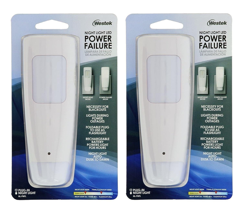 Westek電源障害LEDライト、懐中電灯、バッテリーバックアップNight Light – Aブラックアウトの必要性と、停電 – Ideal For自宅で使用、Be Prepared – No Need再充電に B078J36HYK 13046 1