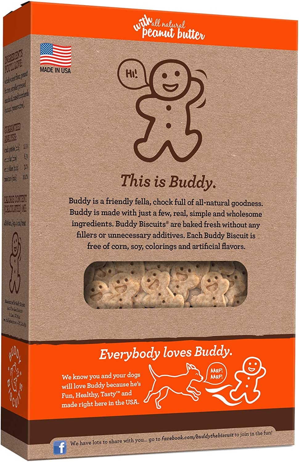 Buddy Biscuits Oven Baked Teeny Treats Whole Grain Treats for Small or Toy Breed Dogs