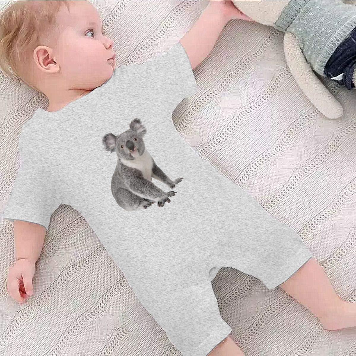 Baby Boys Girls Short Sleeve Jumpsuit Koala Bear Cotton Romper