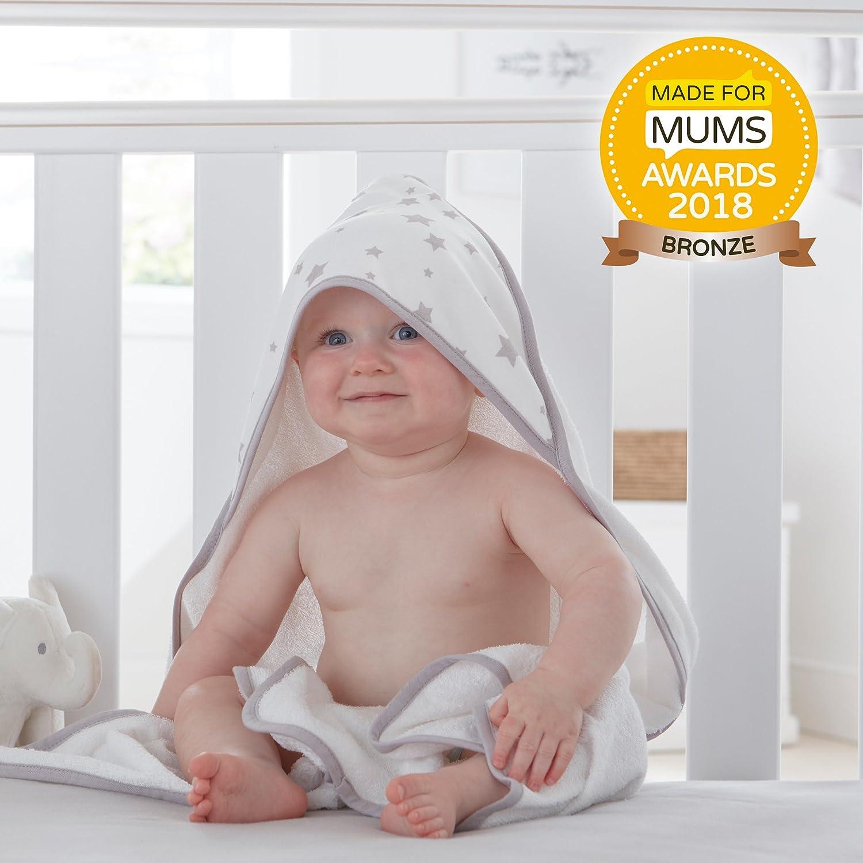 Silentnight Safe Nights Hooded Towel, Pink Stars e-bedding 482929GE